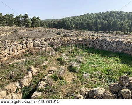 Ruins Of The Ancient Jewish Settlement Anim From The Time Of The Second Temple