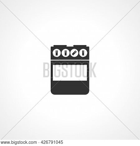 Gas Stove Icon. Gas Stove Isolated Simple Vector Icon