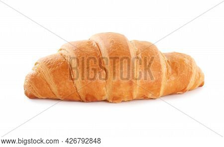 Delicious Fresh Crispy Croissant Isolated On White