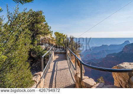 A Nature Trail Boardwalk In Grand Canyon National Park, Arizona