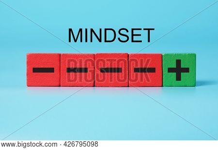 Mindset From Negative To Positive.  Positive Mindset Concept.