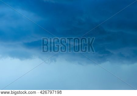 Dark Cloud And Sky When Have Storm And Rain In Monsoon Season.
