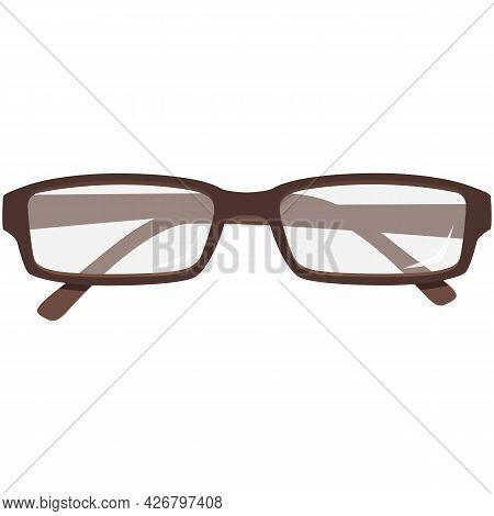 Glasses Vector, Eye Frame Icon, Eyewear Illustration