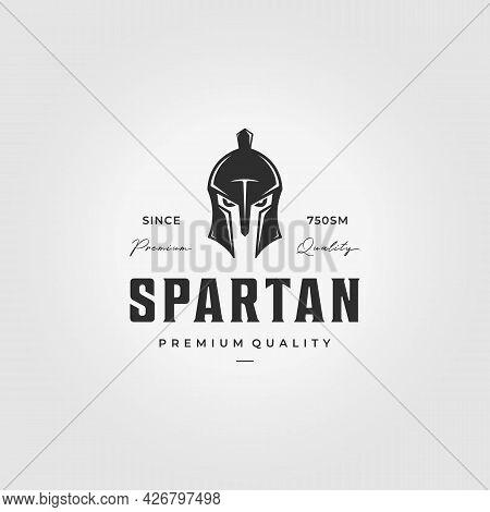 Spartans Logo Vintage Vector Illustration Design, Spartan Armour