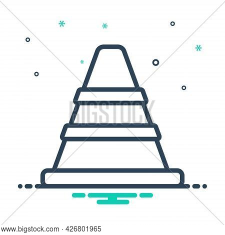 Mix Icon For Traffic-cone Safety Barrier Boundary Construction Caution Repair Traffic Security Trans