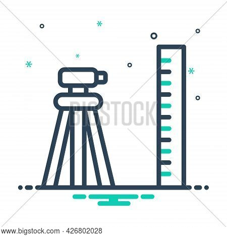 Mix Icon For Geodetic Surveyor Constructing Measurement Topography Tool Technology