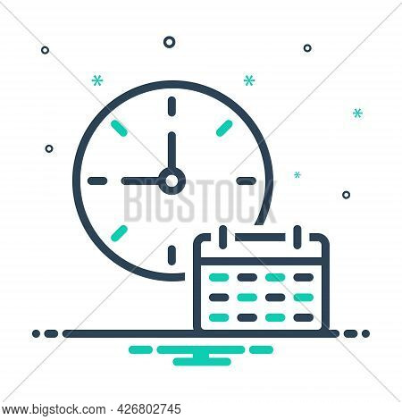 Mix Icon For Time-table Dials Clock Time Analog Countdown Time-planning Time-efficiency Organize App