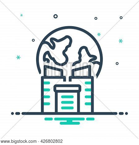 Mix Icon For Global-business Community Cooperation Technology Network Globalization Company Organiza