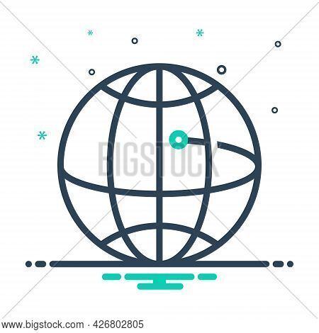 Mix Icon For Global-business Community Cooperation Technology Network Worldwide Globalization Compan