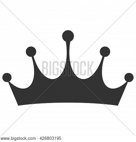 Dark Color Crown Icon Isolated On White Background. Symbol Of Kings, Kings And Power. Logo And Adver