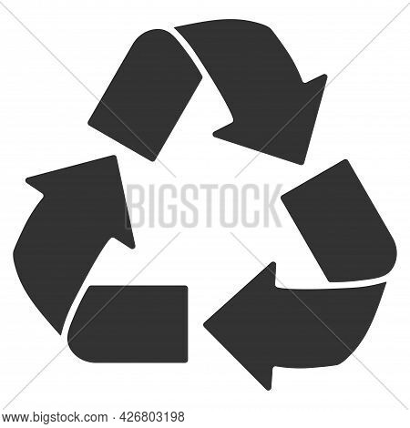 Recycle And Ecology Icon. Reuse And Refuse Concept. Recycling Package Mark. Vector Illustration