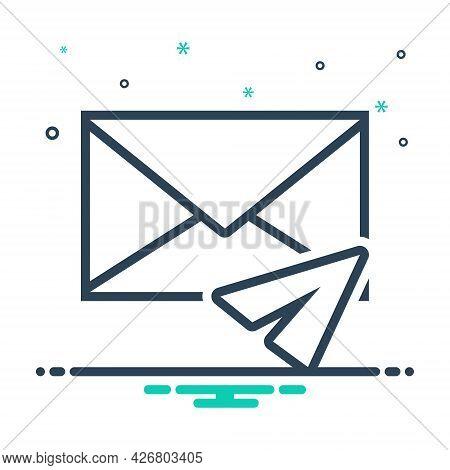 Mix Icon For Direct-message Inbox-message Notification Communication Envelope Reminder News Dialog C