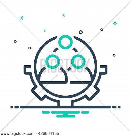 Mix Icon For Workforce Corporate Employee Idea Teamwork Function Organization