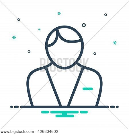 Mix Icon For Male Adult Businessman Man Men People Human Person Masculine