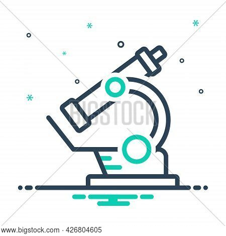 Mix Icon For Microscope Instrument Laboratory Magnify Pharmacology Experiment Scientific Laboratory