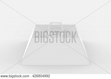 Pyramid Hard Paper Box Mockup Isolated On White Background. 3d Illustration