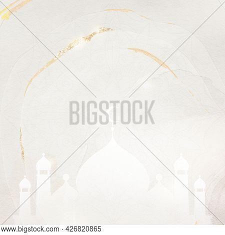 Golden glittery Eid Mubarak border