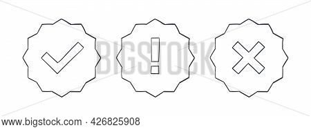 Check Marks. Drawn Icons Of The Check Marks. Checkbox Icons And Sketch Check Marks Signs. Vector Ill