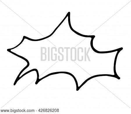 Vector Isolated Element Of An Empty Speech Bubble In The Style Of A Doodle. Hand-drawn Comic Book Sp