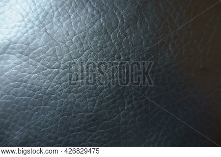 Backdrop - Texture Of Black Faux Leather Fabric