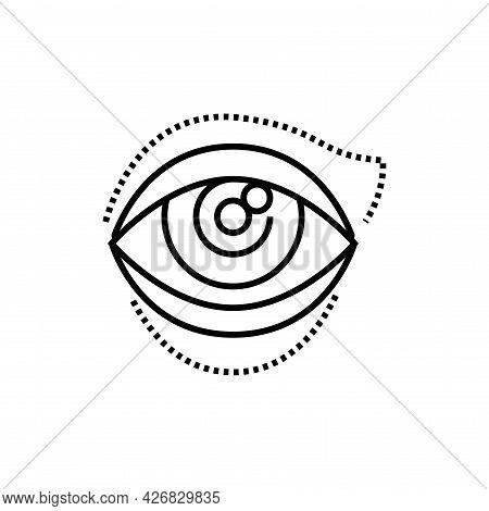 Blepharoplasty Icon. Eye Shape Change Cosmetic Surgery Vector Illustration.