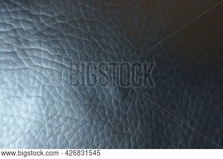 View Of Black Faux Leather Fabric From Above