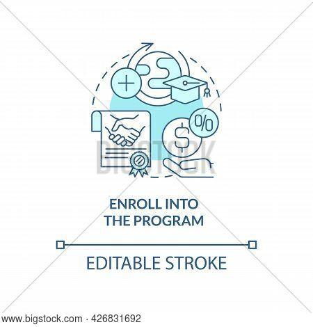 Enroll Into Internship Program Concept Icon. Intern Procedure Abstract Idea Thin Line Illustration.