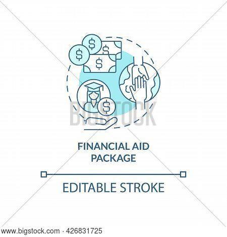 Financial Aid Package Concept Icon. Internship Programs Financing Abstract Idea Thin Line Illustrati