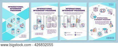 International Internship Programs Brochure Template. Intern Abroad. Flyer, Booklet, Leaflet Print, C