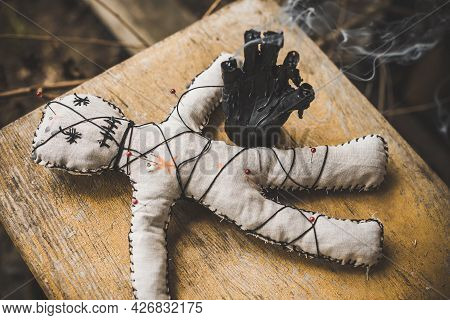 Voodoo Magician Doll, Magic Control Of Person. Concept Of Old Spell, Power