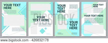 Marine Industry Brochure Template. Professional Info. Flyer, Booklet, Leaflet Print, Cover Design Wi