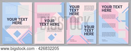 Pastel Pink Promotional Brochure Template. Company Info. Flyer, Booklet, Leaflet Print, Cover Design
