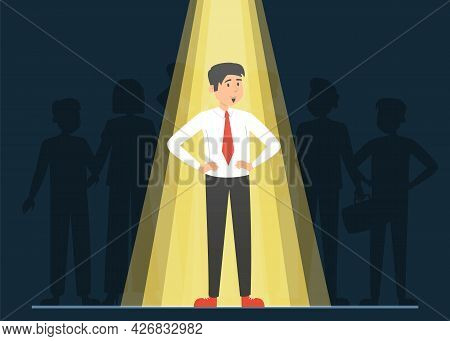 Light Shining On The Right Candidate For A Job