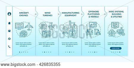 Modern Application By Industry Onboarding Vector Template. Responsive Mobile Website With Icons. Web