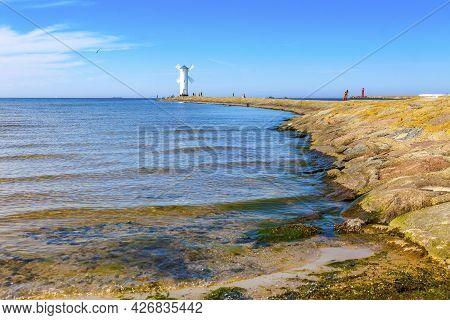 Stawa Mlyny, Beacon (lighthouse) In The Shape Of A Windmill In Swinoujscie, West Pomeranian Voivodes