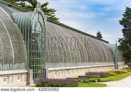 Historic Greenhouse In The Garden Of Lednice, Czech Republic