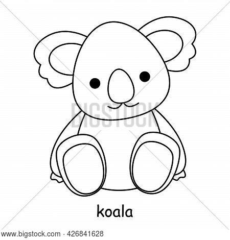 Children Coloring On The Theme Of Animal Vector, Koala