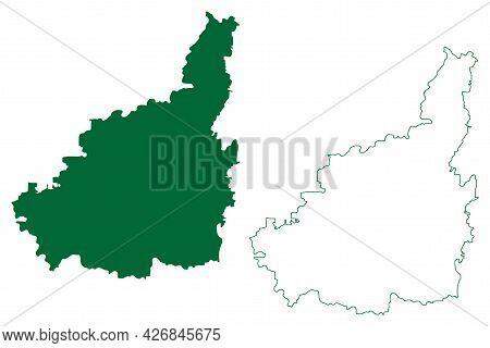 Jaipur District (rajasthan State, Republic Of India) Map Vector Illustration, Scribble Sketch Jaipur