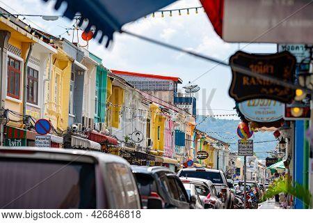 Phuket, Thailand - 12 Apr 2021, The Environment Of Phuket Old Town, The Style Like Sino Portuguese B