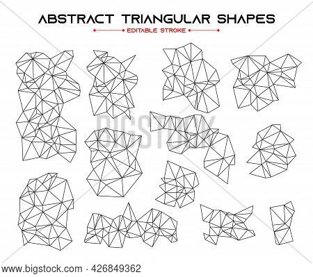 Abstract Triangular Design Elements For Modern Digital Poster.