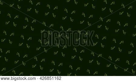Abstract Hypnotic Spinning Motion Of Multiple Rows Of White Triangles. Motion. Bright Background Cha