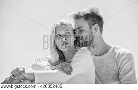 Summer Romance. Family Love. Love Story. Romantic Relations. Couple In Love. Man And Woman Sunny Day