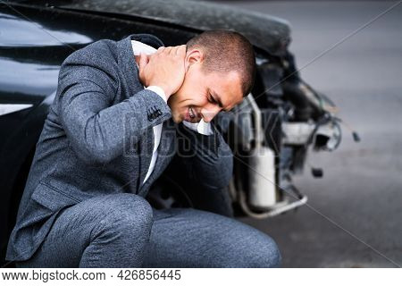 Car Injury Whiplash. Pain After Auto Accident