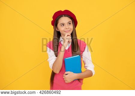 Learning French. Thoughtful Teenage Student. Tween And Youth. Education.