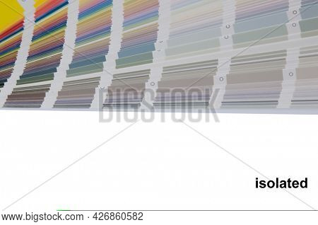 Color guide spectrum swatch samples soft colorful isolated on white background