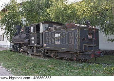 Steam Locomotive. Museum Exhibit In Belgrade
