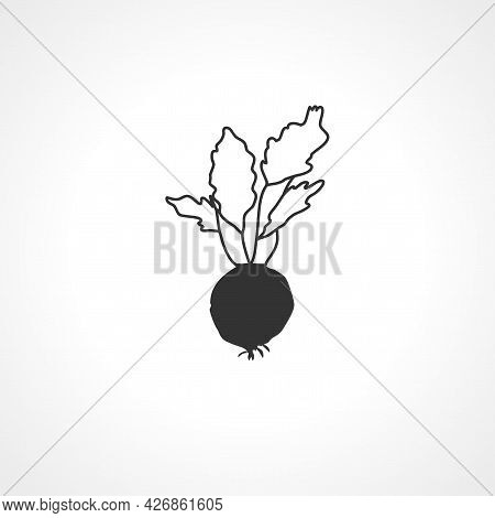 Beet Icon. Beet Isolated Simple Vector Icon