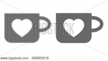 Dotted Halftone Favourite Cup Icon. Vector Halftone Collage Of Favourite Cup Icon Created Of Circle