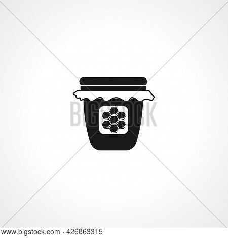 Jar Of Honey Icon. Jar Of Honey Isolated Simple Vector Icon