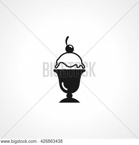 Ice Cream Icon. Ice Cream Isolated Simple Vector Icon